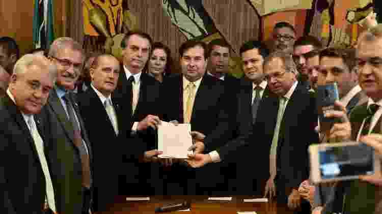 Bolsonaro entrega a nova proposta de reforma da Previdência ao Congresso - Reprodução/Onyx Lorenzoni - Reprodução/Onyx Lorenzoni
