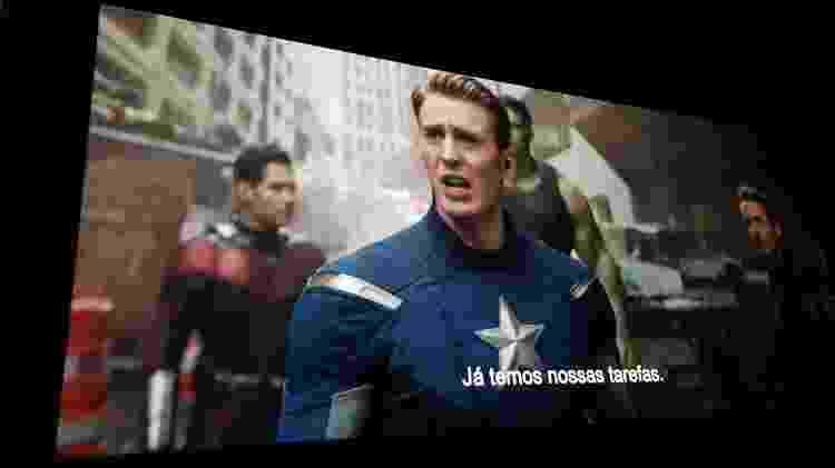"""Projeção de cinema digital exibindo """"Vingadores: Ultimato"""" - Márcio Padrão/UOL"""