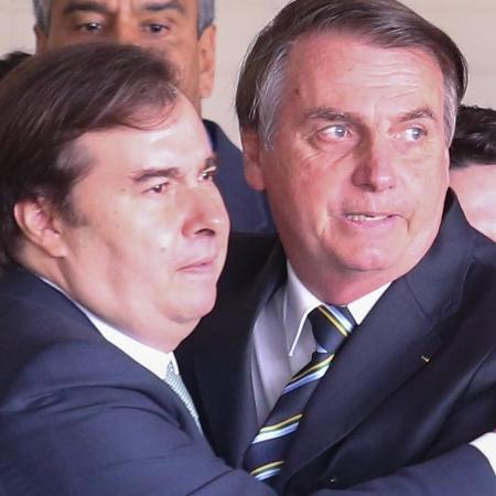4.jun.2019 - O presidente Jair Bolsonaro e o presidente da Câmara, Rodrigo Maia - Andre Coelho/Folhapress