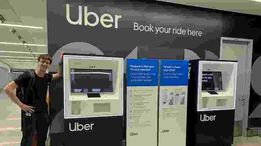 Uber começou a testar quiosques no aeroporto de Toronto - Reprodução/Uber