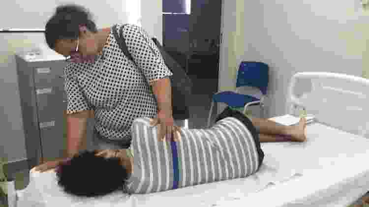Dona Carla cuida do filho - Arquivo Pessoal