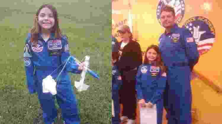 Alyssa Carson, astronauta em treinamento que sonha em ir para Marte, quando criança - Reprodução/Nasablueberry - Reprodução/Nasablueberry