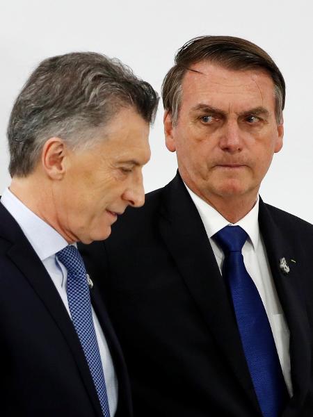 Macri e Bolsonaro no G20 - JORGE SILVA / Reuters