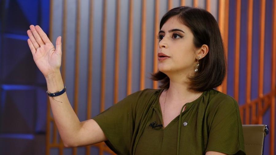 A deputada federal, Tabata Amaral (PDT-SP), em entrevista ao Poder em Foco, do SBT - Sergio Lima/Poder 360