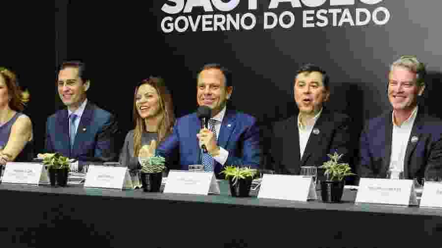 Governador do Estado de São Paulo, João Doria em coletiva de imprensa sobre Parceria do Google com Agricultura e Segurança - Governo do Estado de São Paulo