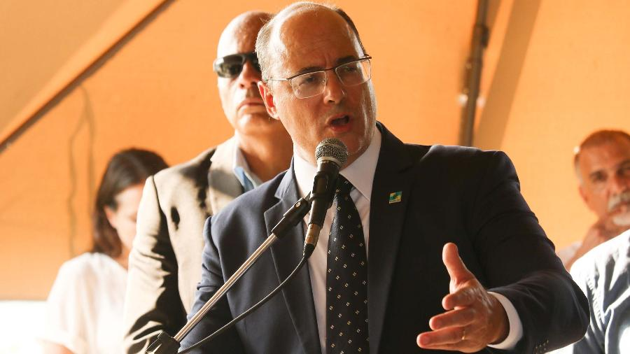 28.jan.2020 - O governador Wilson Witzel na inauguração de Navio Oceanográfico Professor Luiz Carlos, na Marina da Glória - DIKRAN JUNIOR/ESTADÃO CONTEÚDO