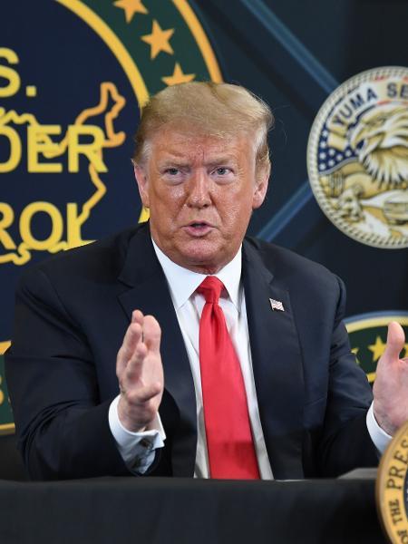 """Obra foi promessa de campanha do presidente Donald Trump, que alegava """"requisitos militares imprevistos"""" para utilizar verbas do Pentágono - Saul Loeb/AFP"""