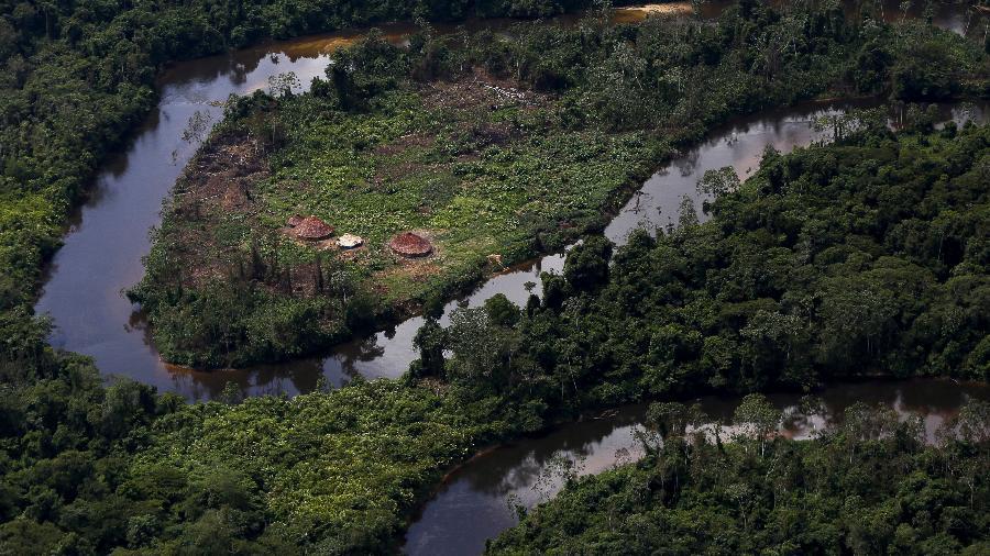 Reserva indígena ianomâmi na floresta amazônica. Maioria das áreas intactas do mundo são territórios indígenas  - REUTERS/Bruno Kelly/