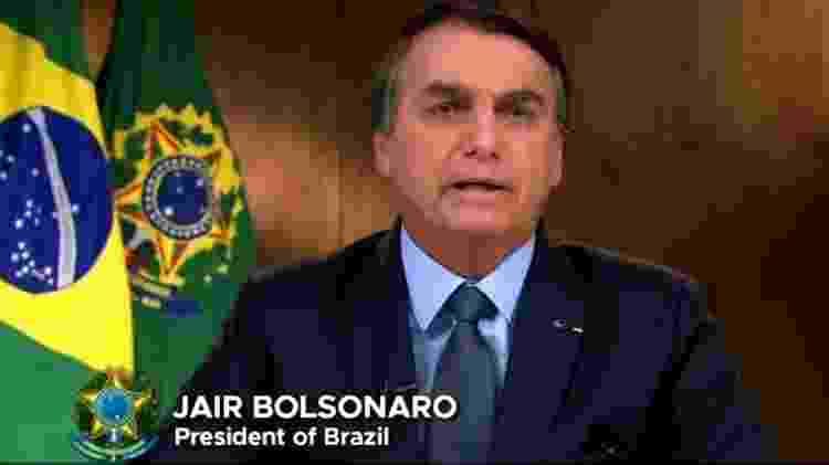 """Bolsonaro disse que repercussão de incêndios na imprensa internacional é parte de """"uma das mais brutais campanhas de desinformação"""" - Reprodução - Reprodução"""