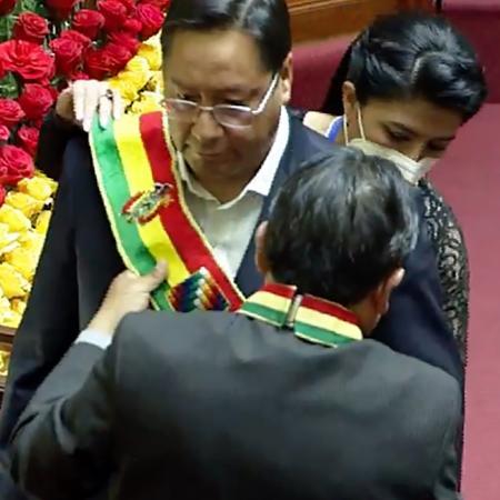 Arquivo - O presidente da Bolívia, Luis Arce, promulgou imposto sobre as fortunas  - AFP PHOTO / AGENCIA BOLIVIANA DE INFORMACION