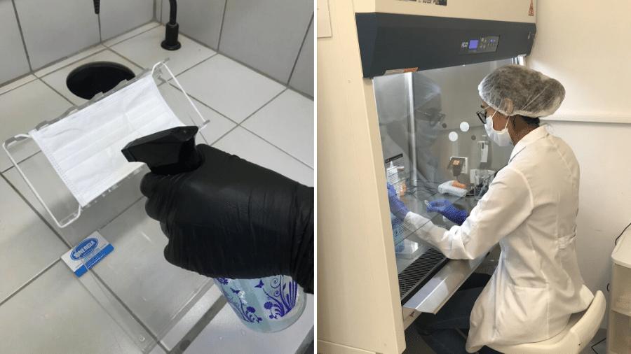 SprayCov inativa vírus e protege máscara por 48 horas - Divulgação/Unicamp