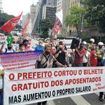 Idosos protestam contra fim da gratuidade no transporte público em São Paulo para pessoas entre 60 e 64 anos - Divulgação/MPL