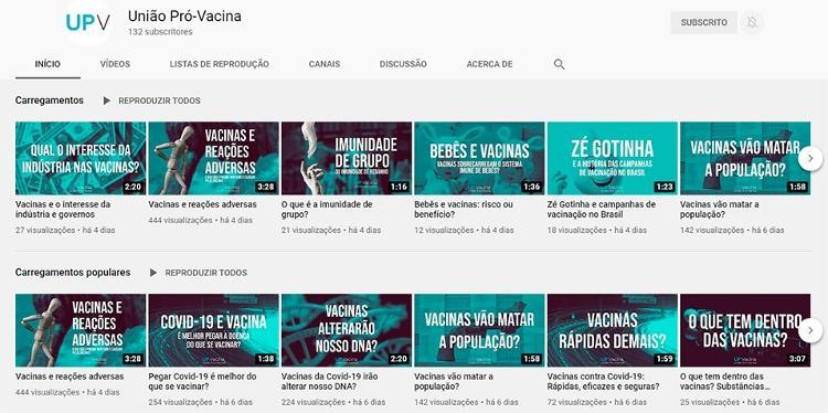 Home do UPV no Youtube - Arte / Física na veia - Arte / Física na veia
