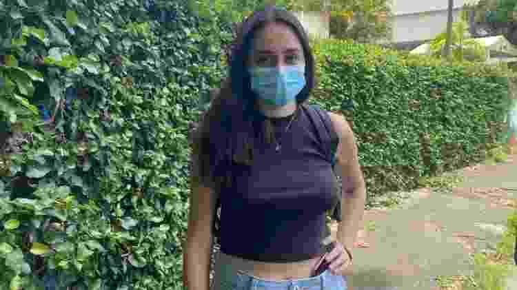 A estudante Jenifer Figueiredo, 20, falou em grande abstenção no Enem - Tatiana Campbell/UOL - Tatiana Campbell/UOL