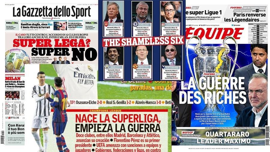 Imprensa europeia recebeu mal a ideia da Superliga - Reprodução