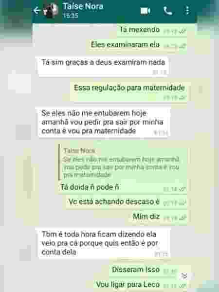Taíse trocou mensagens com a sogra na noite que antecedeu o óbito - Reprodução/TV Bahia - Reprodução/TV Bahia