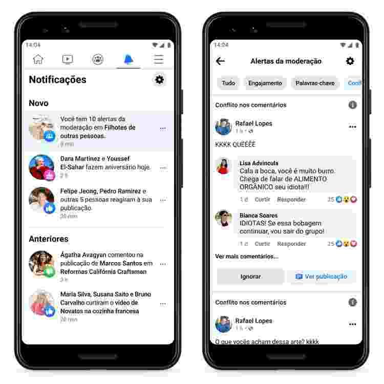Alertas de moderação por IA no Facebook - Facebook - Facebook