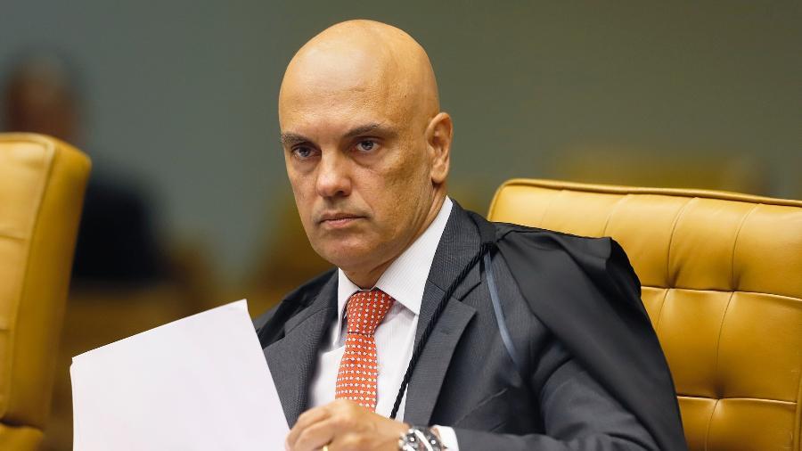 6.fev.2020 - O ministro do STF, Alexandre de Moraes, durante sessão do plenário da Corte - Rosinei Coutinho/SCO/STF