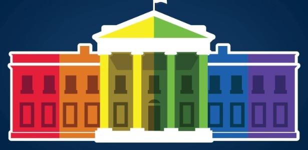 """No Facebook, a Casa Branca virou a """"Casa Arco-Íris"""" - Reprodução/Facebook"""