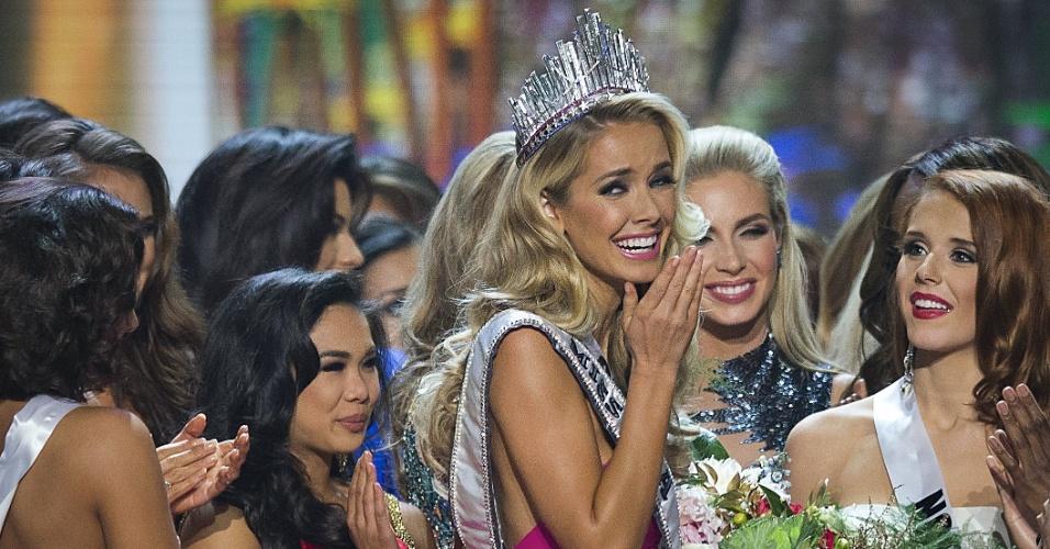 12.jul.2015 - A representante do Estado de Oklahoma, Olivia Jordan, foi coroada na noite miss Estados Unidos, em concurso realizado na Louisiana