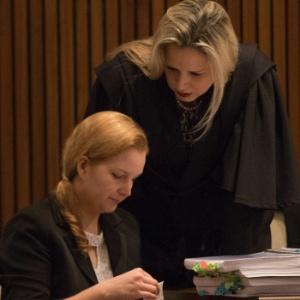 Elize Matsunaga chorou neste domingo no último dia de julgamento