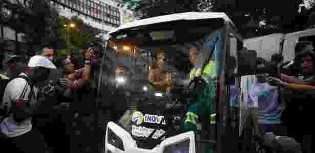 O novo prefeito de São Paulo entrou em um veículo de limpeza - Zanone Fraissat/Folhapress - Zanone Fraissat/Folhapress
