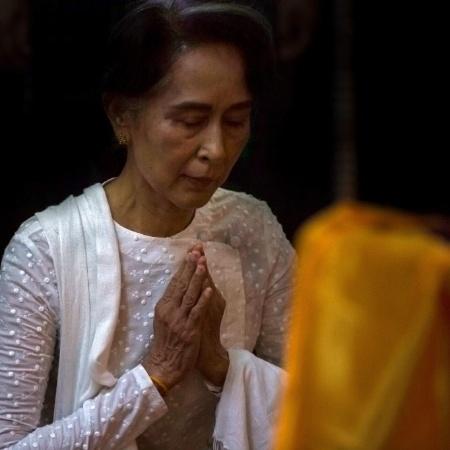Arquivo - Aung San Suu Kyi está detida em um local secreto desde o golpe de 1º de fevereiro - AFP Photo