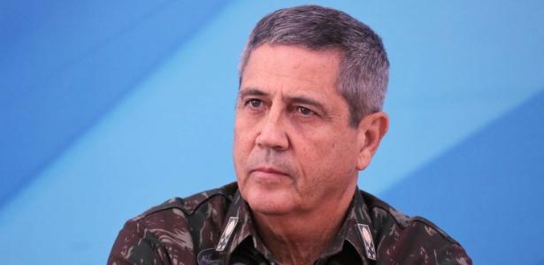 General Walter Braga Netto durante assinatura do decreto de intervenção federal na Segurança Pública do Rio de Janeiro (RJ), no Palácio do Planalto, em Brasília (DF)