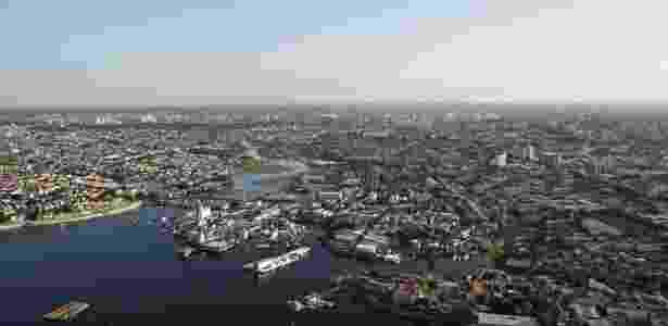 Vista aérea de Manaus; cidade produz uma nova cena de startups  - Getty Images/iStockphoto