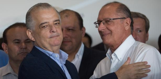 O governador de São Paulo, Márcio França (PSB), e seu antecessor Geraldo Alckmin (PSDB)