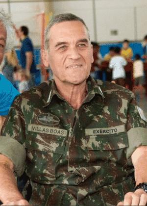 Reprodução 21.ago.2017 /Twitter General Eduardo Villas Bôas