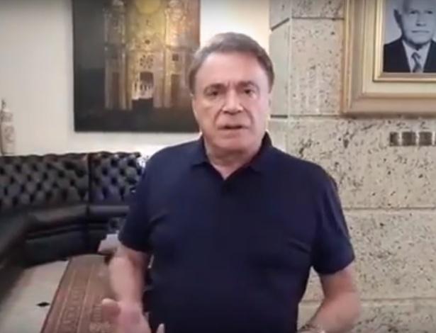 O presidenciável Alvaro Dias gravou um vídeo na véspera da eleição deste domingo (7)