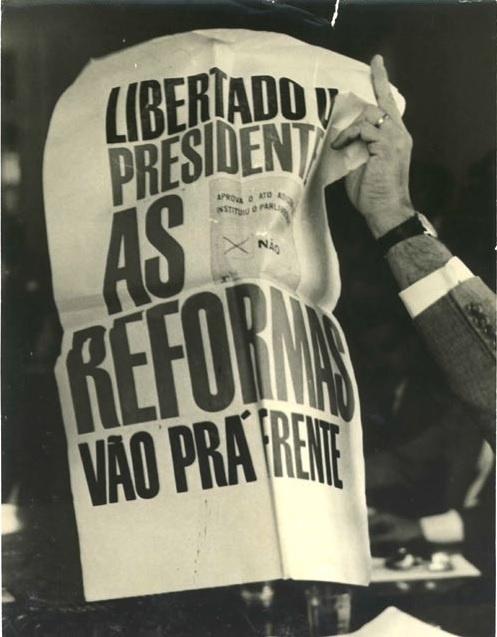 Campanha pró-presidencialismo. Janeiro de 1963