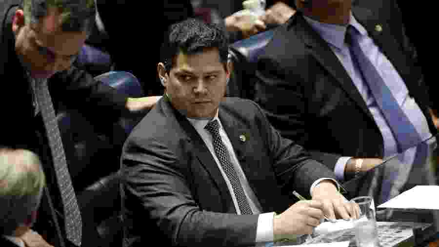 06.fev.2019 - O presidente do Senado Davi Alcolumbre (DEM-AP) - Pedro Ladeira/Folhapress