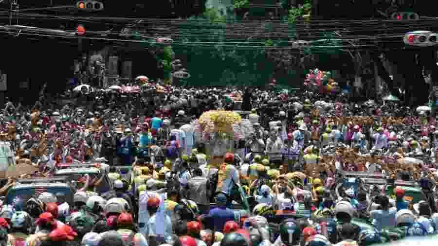 Entre as diversas manifestações de fé popular do Brasil, o Círio de Nazaré, realizado em Belém do Pará há mais de dois séculos, é uma das maiores procissões católicas do Brasil - Wilson Dias/Agência Brasil