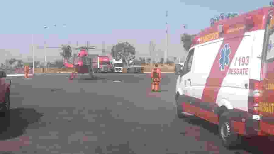 Corpo de Bombeiros atendeu ocorrência às 8h56; mulheres sobreviveram ao ataque e foram hospitalizadas - CBMDF/Divulgação