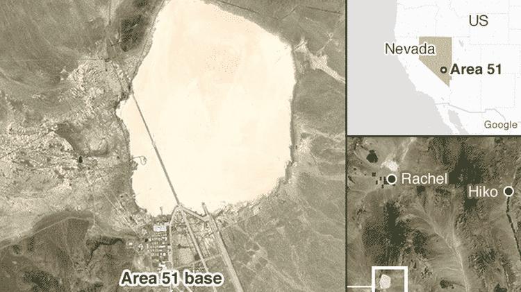 Rachel e Hiko são as duas cidades mais próximas da base da Área 51 - BBC