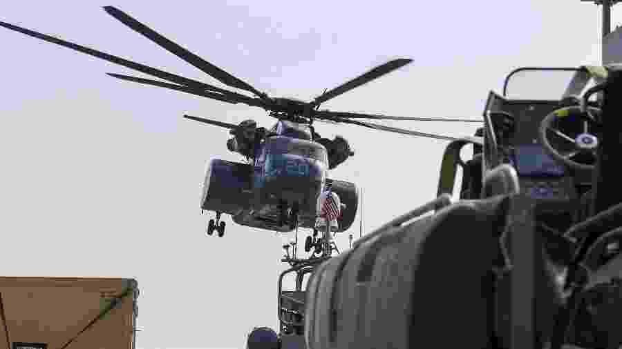 Black Hawk, modelo de helicóptero que caiu no estado de Minnesota, nos EUA - Karim Sahib/AFP