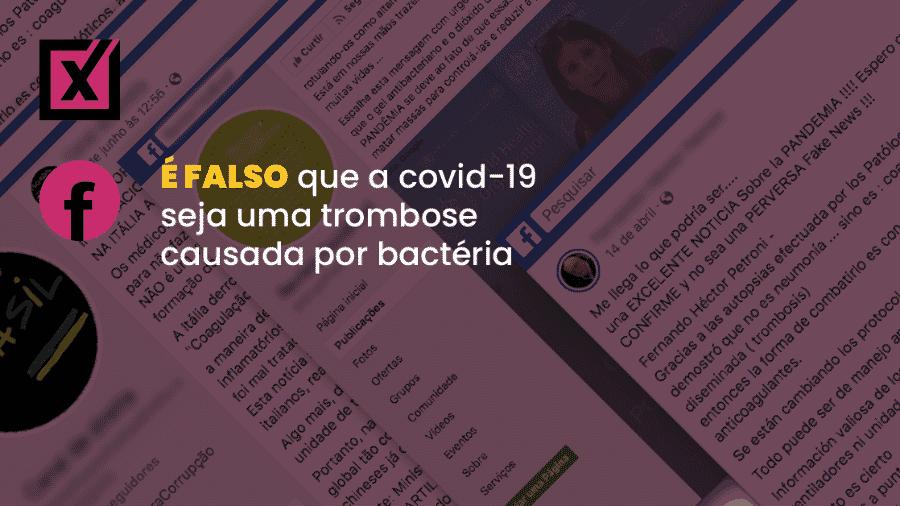 Texto compartilhado por WhatsApp e em páginas e perfis no Facebook alegava que remédio para coronavírus foi encontrado na Itália - Arte/Comprova