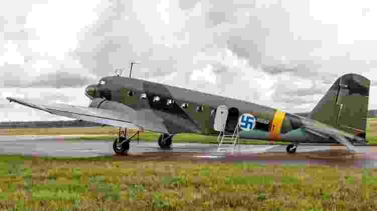 A Força Aérea finlandesa usava um símbolo com uma suástica desde que foi fundada em 1918 - Alamy - Alamy