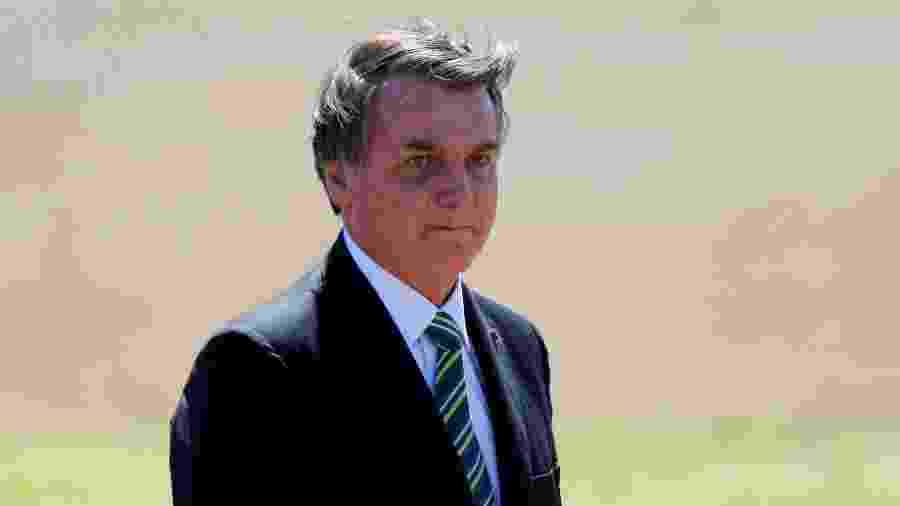 Presidente Jair Bolsonaro durante cerimônia em Brasília -