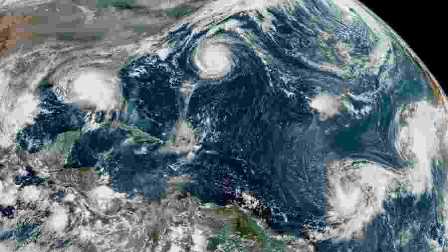 Desde 1971 não eram registrados cinco ciclones tropicais ativos ao mesmo tempo - Centro Nacional de Furacões dos EUA
