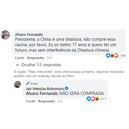 bolsonaro vacina não será comprada - Reprodução - Reprodução