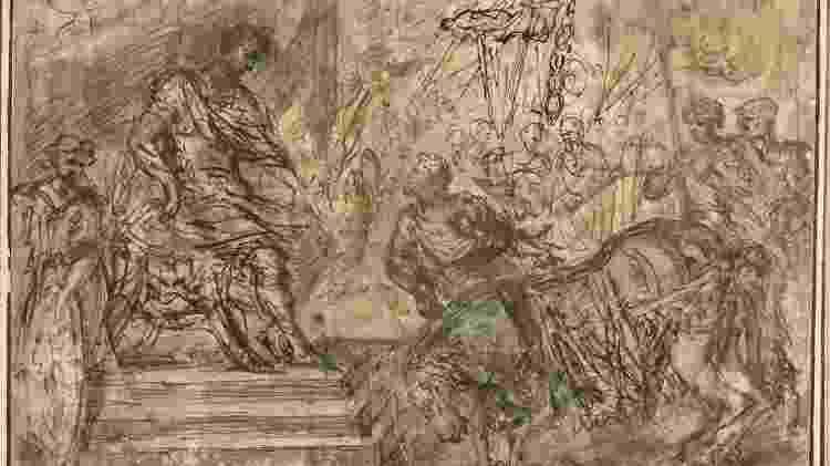 Calígula nomeando seu cavalo Incitatus para o Consulado (Quadro de Pietro da Cortona 1596-1669) - GETTY IMAGES - GETTY IMAGES