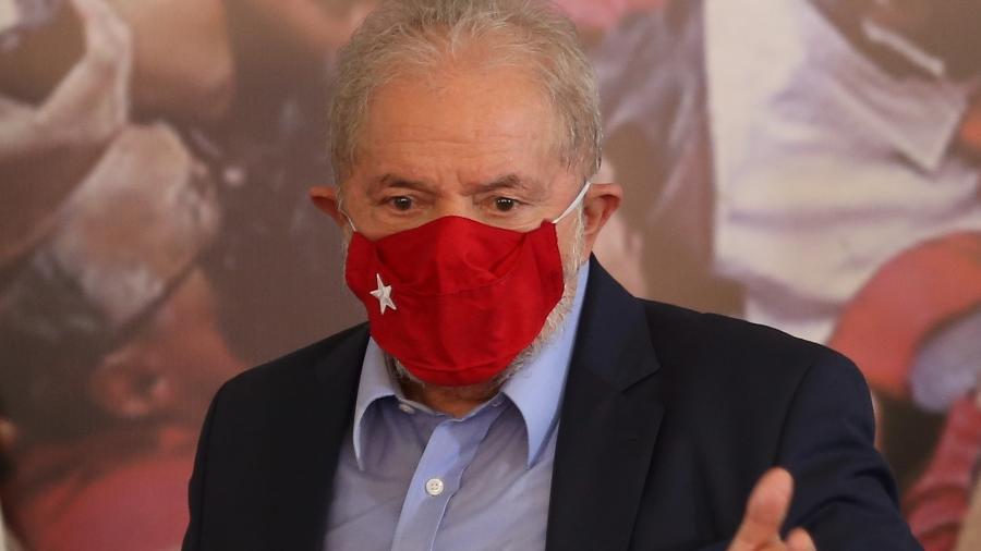 Ex-presidente Luiz Inácio Lula da Silva (PT) fala sobre condenações anuladas, candidatura para 2022, e faz críticas ao governo Bolsonaro - Marcelo D. Sants/Framephoto/Estadão Conteúdo