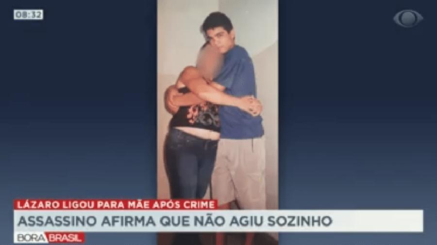 Foto mostra tia de Lázaro Barbosa como sobrinho, ainda adolescente. Segundo ela, ele teria dito para a mãe que não agiu sozinho na chacina em Ceilândia - Reprodução/Band