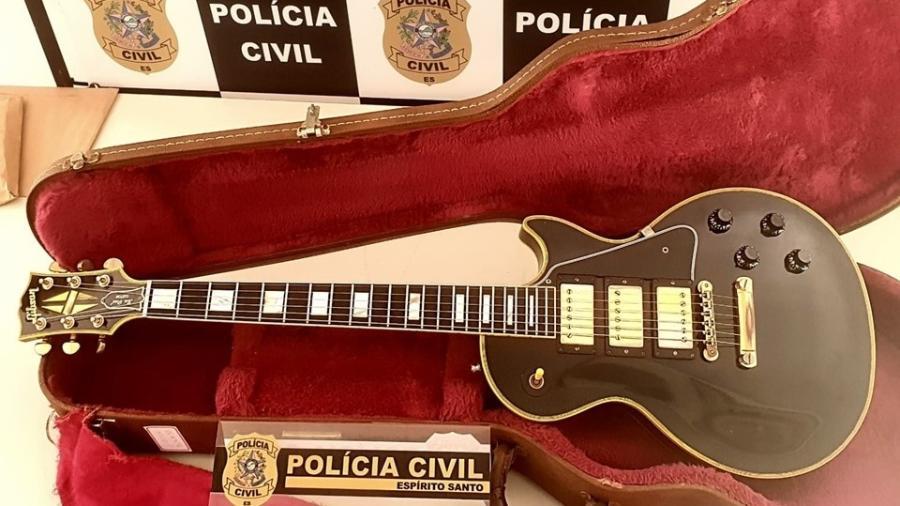 Guitarra de R$ 40 mil roubada em 2016 em Belo Horizonte foi recuperada no ES - Divulgação/PCES