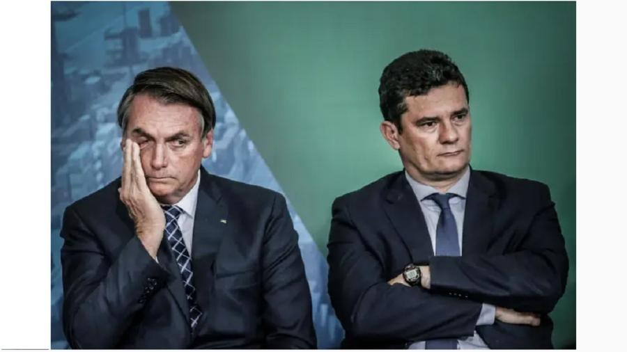 Jair Bolsonaro e Sergio Moro. A disputa pelo mercado de extrema direita os desuniu. Um achou que poderia manipular o outro - Adriano Machado/Reuters
