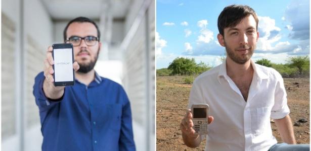 Onício Neto (à esq.) e Guilherme Lichand criaram empresas que usam o celular na busca do aprimoramento das políticas públicas