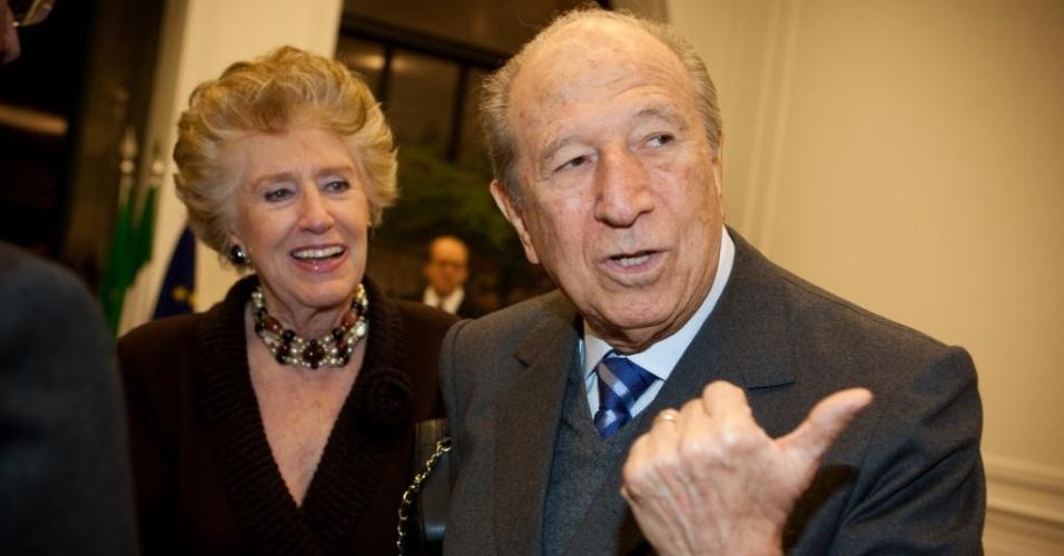 1º.jun.2010 - O empresário Luigi Bauducco, dono, herdeiro da Bauducco, durante festa no Museu da Casa Brasileira, em São Paulo